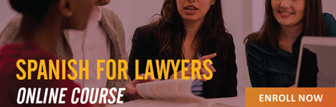 Spanish for Lawyers Banner with link